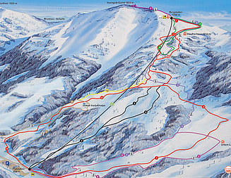 Mapa střediska - areálu - Steibis-Hochgrat