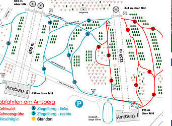 Mapa střediska - areálu - Arnsberg