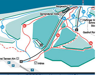 Mapa střediska - areálu - Bischofsheim