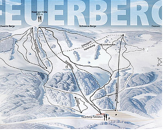 Mapa střediska - areálu - Feuerberg