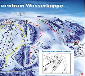 Mapa střediska - areálu - Wasserkuppe