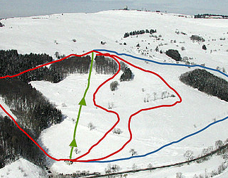 Mapa střediska - areálu - Zuckerfeld