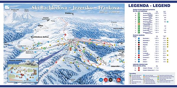 Mapa střediska - areálu - Ski Bachledova