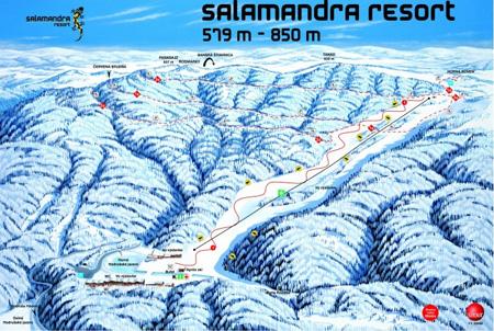 Mapa střediska - areálu - Salamandra Resort