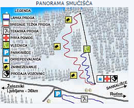 Mapa střediska - areálu - Rudno