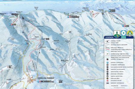 Mapa střediska - areálu - Maribor - Pohorje