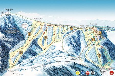 Mapa střediska - areálu - Snow Paradise Veľká Rača Oščadnica