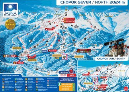 Mapa střediska - areálu - Chopok Jih - Srdiečko