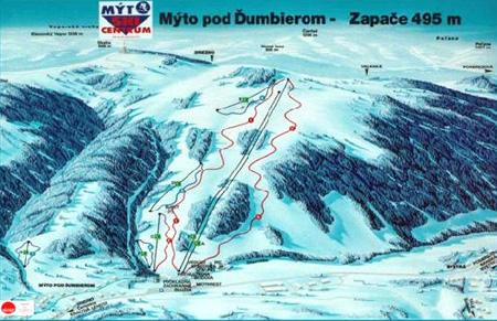 Mapa střediska - areálu - Mýto pod Ďumbierom