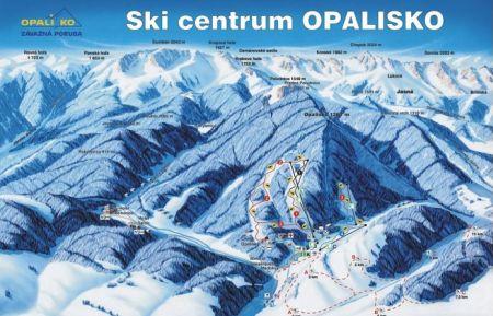 Mapa střediska - areálu - Opalisko - Závažná Poruba