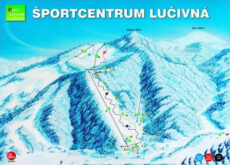 Mapa střediska - areálu - Sport Centrum Lučivna