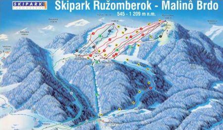 Mapa střediska - areálu - Malinné