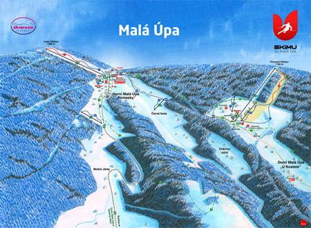 Mapa střediska - areálu - Malá Úpa