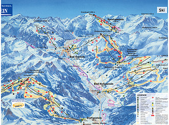 Mapa střediska - areálu - Dorfgastein - Ski Amade