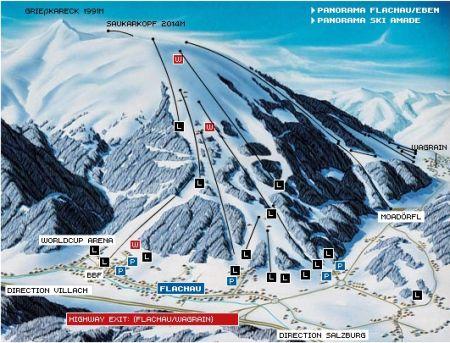 Mapa střediska - areálu - Flachau