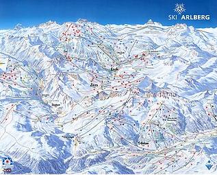 Mapa střediska - areálu - Zürs