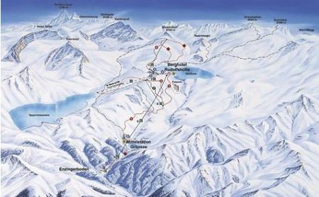 Mapa střediska - areálu - Wagrain - Ski Amade