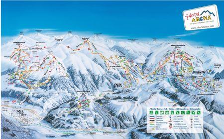 Mapa střediska - areálu - Gerlos - Zillertal