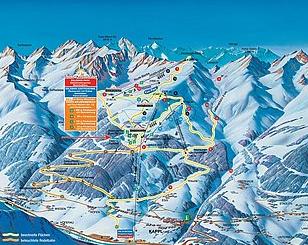 Mapa střediska - areálu - Kappl
