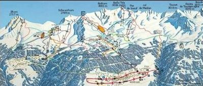 Mapa střediska - areálu - Chandolin