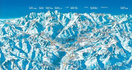 Mapa střediska - areálu - Saint Moritz