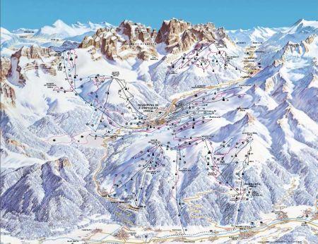 Mapa střediska - areálu - Madonna di Campiglio