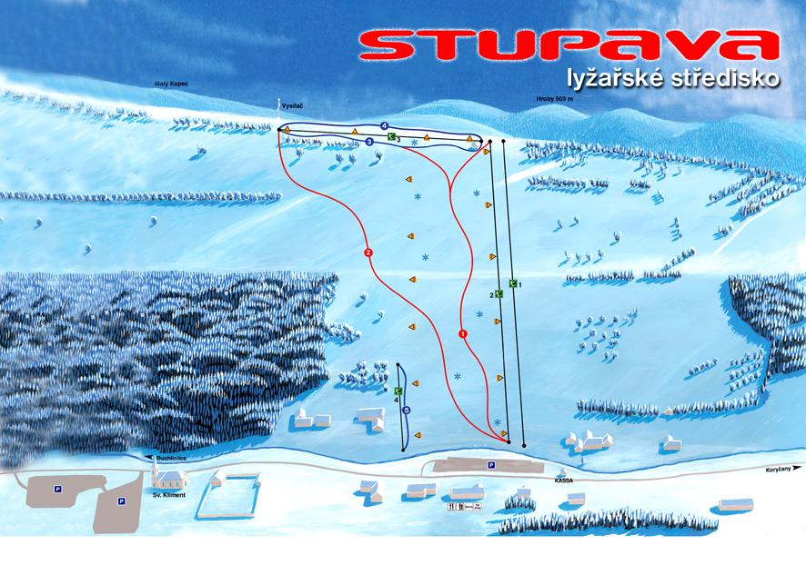 Mapa střediska - areálu - Stupava