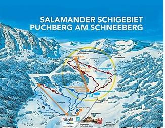Mapa střediska - areálu - Puchberg am Schneeberg