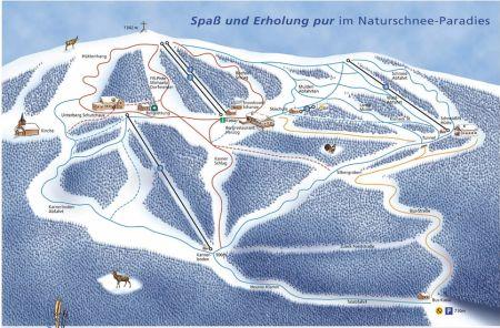 Mapa střediska - areálu - Unterberg