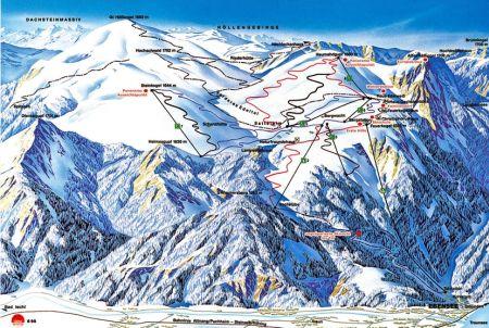 Mapa střediska - areálu - Feuerkogel