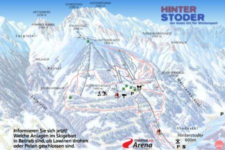 Mapa střediska - areálu - Hinterstoder - Höss