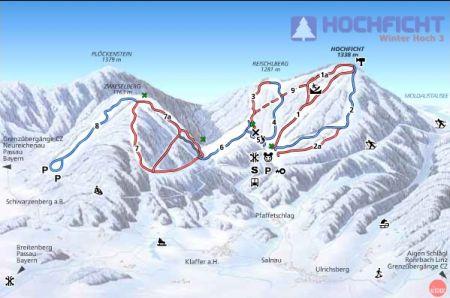 Mapa střediska - areálu - Hochficht