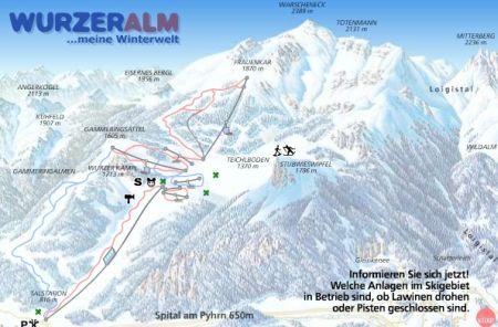 Mapa střediska - areálu - Wurzeralm