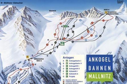 Mapa střediska - areálu - Ankogel - Mallnitz
