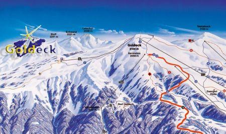 Mapa střediska - areálu - Goldeck Bergbahnen