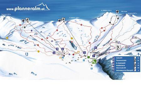 Mapa střediska - areálu - Planneralm