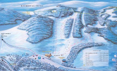 Mapa střediska - areálu - Medvedica - Malachov