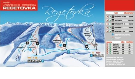 Mapa střediska - areálu - Regetovka