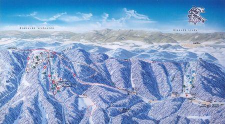 Mapa střediska - areálu - Drienica