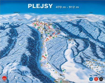 Mapa střediska - areálu - Relax Center Plejsy