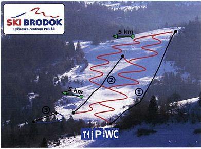 Mapa střediska - areálu - Brodok - Poráč