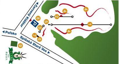 Mapa střediska - areálu - Skipark Spišská Stará Ves