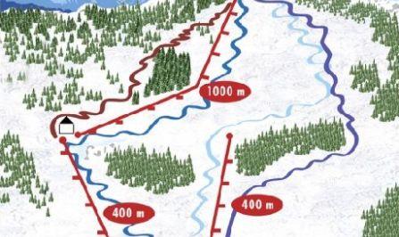 Mapa střediska - areálu - Litmanová