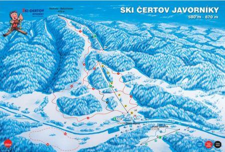 Mapa střediska - areálu - Čertov - Lazy pod Makytou