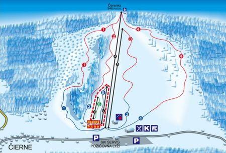 Mapa střediska - areálu - Ski Makov