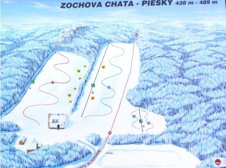 Mapa střediska - areálu - Zochova chata - Piesok
