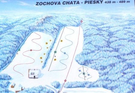 Mapa střediska - areálu - Pezinská Baba