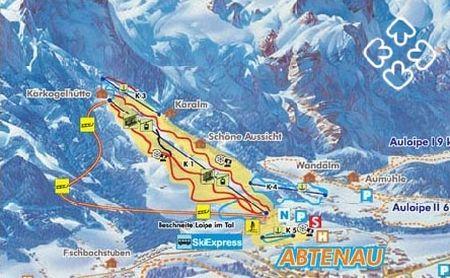 Mapa střediska - areálu - Abtenau im Lammertal