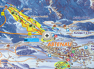 Mapa střediska - areálu - Annaberg - Lungotz
