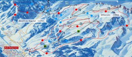 Mapa střediska - areálu - Bad Hofgastein - Ski Amade